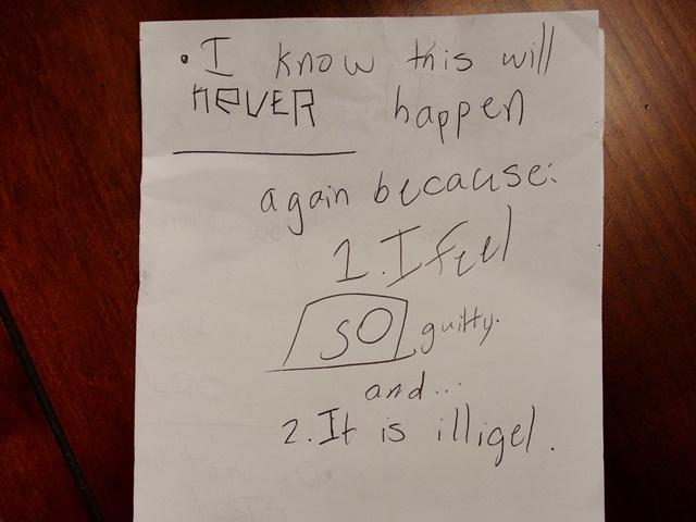Last page of kid