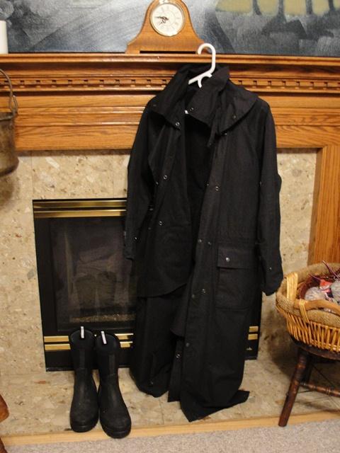 Raincoat and boots