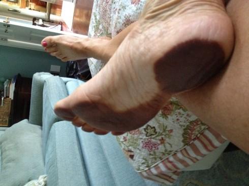 my sun tan feet